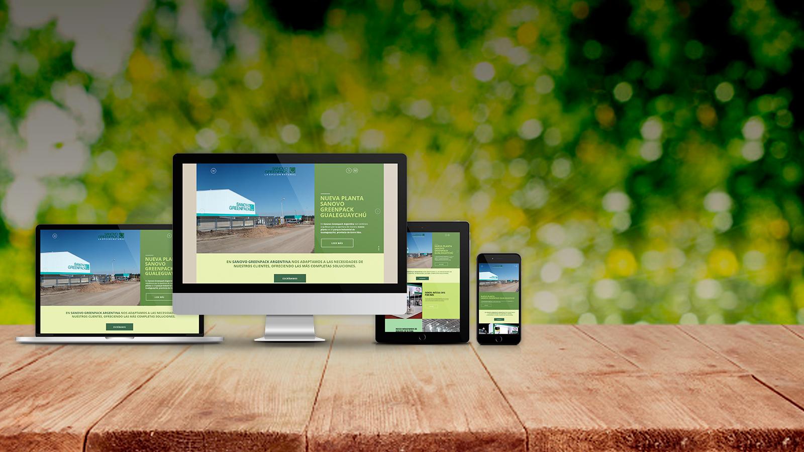 Nuevo sitio web de Sanovo